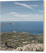 Panoramic View Across Calvi Bay And Revellata In Corsica Wood Print