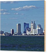 Panoramic View Of Atlantic City, New Jersey Wood Print
