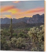 Pastel Desert Skies  Wood Print
