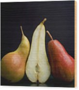 Pears Wood Print by Bernard Jaubert
