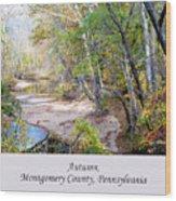 Pennsylvania Autumn Wood Print