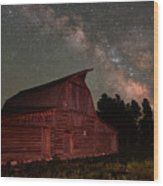 2 Percent Milk At The Moulton Barn Wood Print