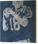 Peyton Manning Colts Wood Print