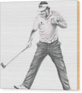Phil Mickelson Wood Print by Murphy Elliott