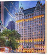 Plaza Hotel Wood Print