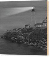 Portland Head Lighthouse Wood Print by Mike McGlothlen