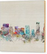 Portland Oregon Skyline Wood Print