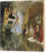 Portrait Of Mlle Fiocre In The Ballet  Wood Print