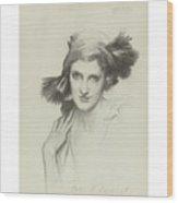 Portrait Of The Honourable Wood Print