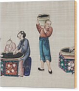 Portraying The Chinese Tea Industry Wood Print