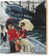 Portsmouth Dockyard Wood Print