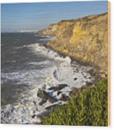 Portuguese Coast Wood Print