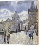 Prague Charles Bridge Wood Print