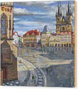 Prague Old Town Squere Wood Print