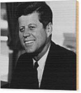 President Kennedy Wood Print