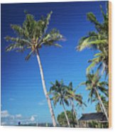 Puka Beach In Tropical Paradise Boracay Philippines Wood Print