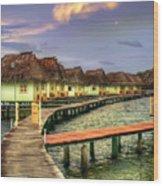 Punta Caracol Wood Print