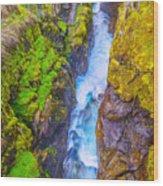 Pyrenees Waterfall Wood Print