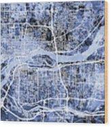 Quad Cities Street Map Wood Print
