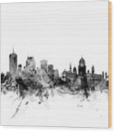 Quebec Canada Skyline Wood Print