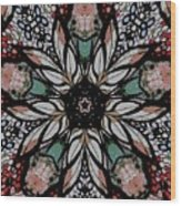 Quilted Starflower Wood Print