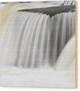 Rabbit River Cascade Wood Print