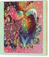 Raining In My Heart Wood Print