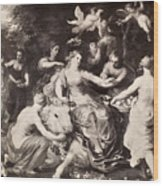 Rape Of Europa Wood Print
