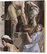 Raphael The Fire In The Borgo  Wood Print