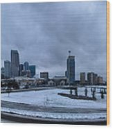 Rare Winter Weather In Charlotte North Carolina Wood Print