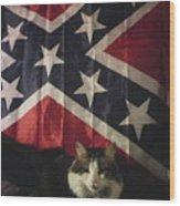Rebel Cat Wood Print