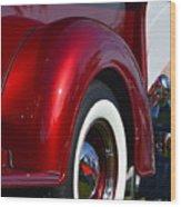 Red Chevy Pickup Fender Wood Print