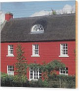 Red House In Northern Ireland Wood Print