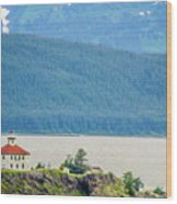 Remote Lighthouse Island Standing In The Middle Of Mud Bay Alask Wood Print