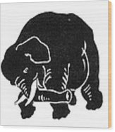 Republican Elephant, 1874 Wood Print
