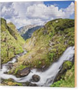 Rila Mountain Wood Print