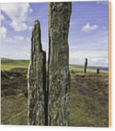 Ring Of Brodgar Wood Print