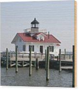 Roanoke Marshes Lighthouse Wood Print