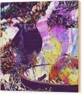 Robin Erithacus Rubecula Bird  Wood Print