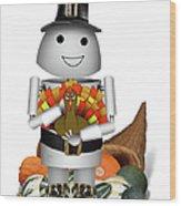 Robo-x9 The Pilgrim Wood Print