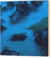 Rock Formations On The Coast, Central Wood Print