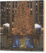 Rockefeller Center And The Famous Wood Print