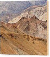 Rocks And Stones Mountains Ladakh Landscape Leh Jammu Kashmir India Wood Print