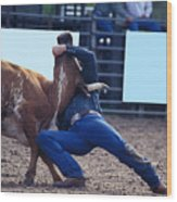 Rodeo In Kissimmee Wood Print