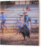 Rodeo Rider Wood Print