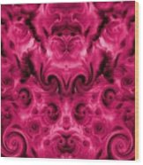 Roses Tapestry And Curls Wood Print