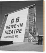 Route 66 - Drive-in Theatre Wood Print