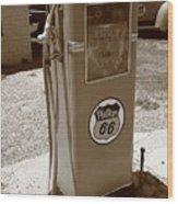 Route 66 Gas Pump Wood Print