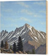 Rugged Peaks Wood Print