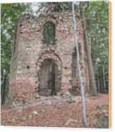 Ruins Of The Baroque Chapel Of Saint Mary Magdalene Wood Print